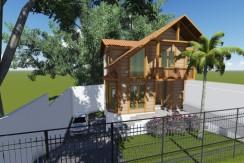 Projetos em Madeira 127.48m2 – Sobrado