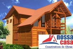 Projetos em Madeira 120.21m2 – Sobrado