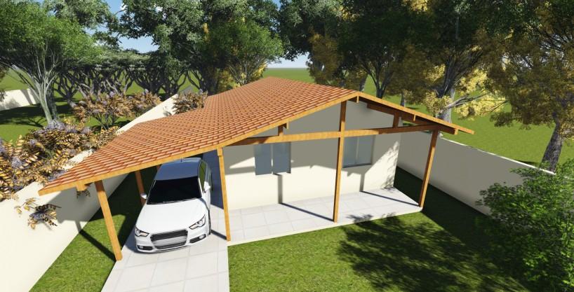 Projeto em Alvenaria 70,12m2 – Casa Térrea