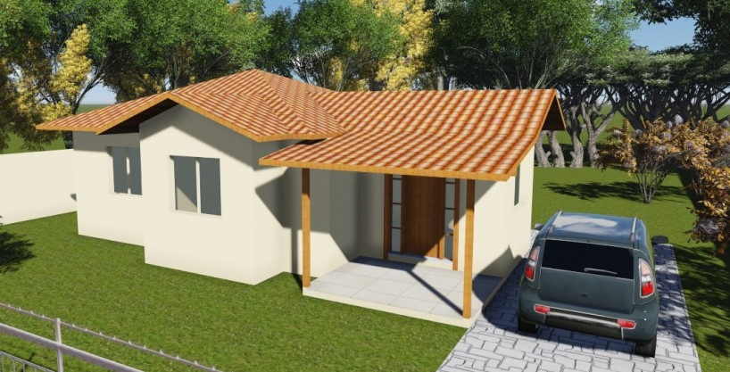 Projeto em Alvenaria 70,74m2 – Casa Térrea